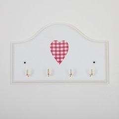 Key Holder - Red Gingham Heart