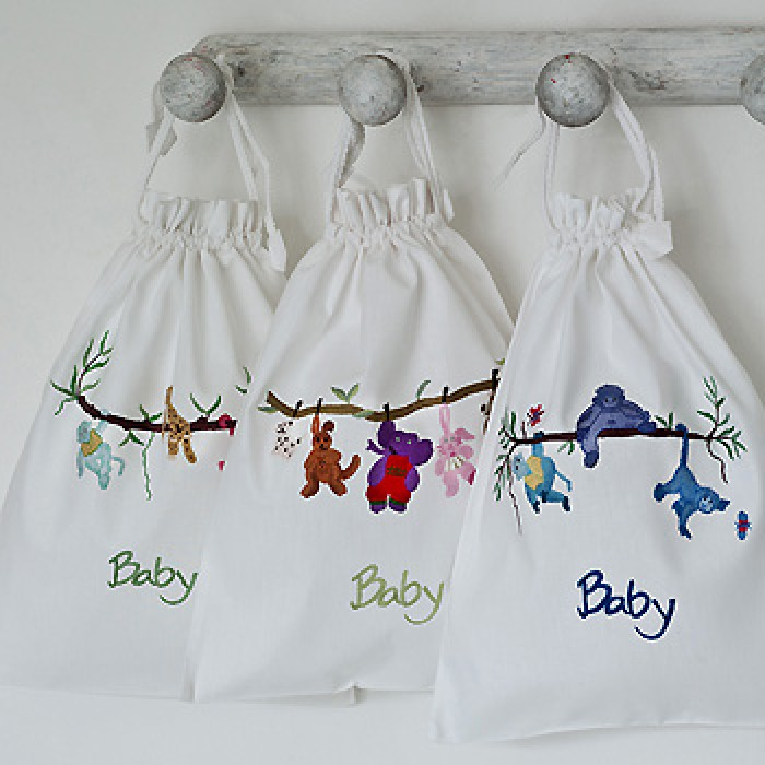 Hand Embroidered Baby Bag