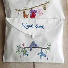 Hand Embroidered Cotton Baby Night Time Bag