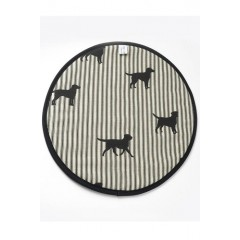 Black Labrador Hob Cover