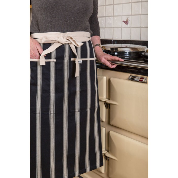 Mercara Striped Half Cooking Apron