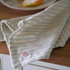 Duck Egg Stripe Napkin - Set of Four Napkins