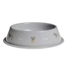 Terrier Metal Dog Food Bowl