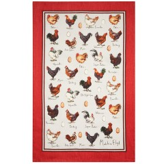 Chicken and Egg 100% Linen Tea Towel