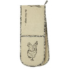 Ulster Weavers Chickens Oven Gloves 'free range'