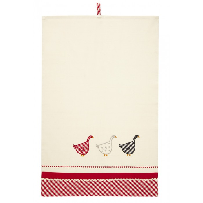 Gingham Goose Tea Towel