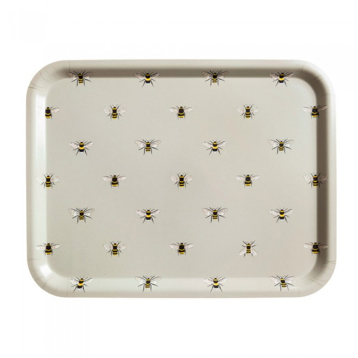 Bees Printed Wooden Tray