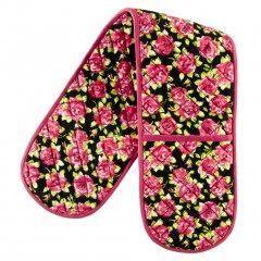 Bold Floral Design Double Oven Glove