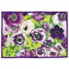 Bold Floral Design Quilted Placemats