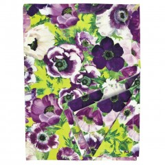 Purple and Anemone Bold Floral Cotton Tablecloth (140cm x 180cm)