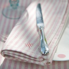 Ivory/Stripe Napkins from Susie Watson