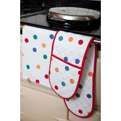 Multi Spotty Double Oven Glove