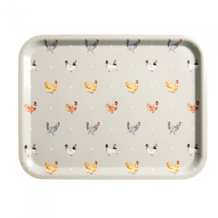 Chickens 'Lay a Little Egg for Me' Printed Wooden Tray