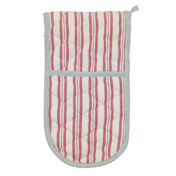 Susie Watson Rose Ivory Stripe Double Oven Glove