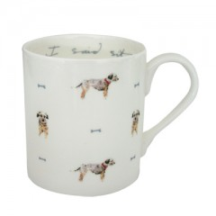 """I Said Sit!"" Terrier China Mug"