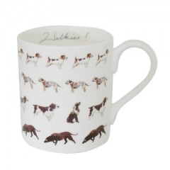 """Walkies"" Dogs China Mug"