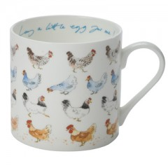 """Lay a Little Egg for Me"" Chickens China Mug"