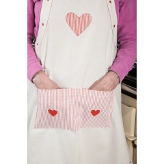 Susie Watson Heart Design Cooking Apron