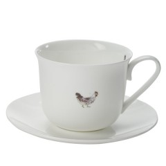 'Lay a little egg for me' Cup and Saucer