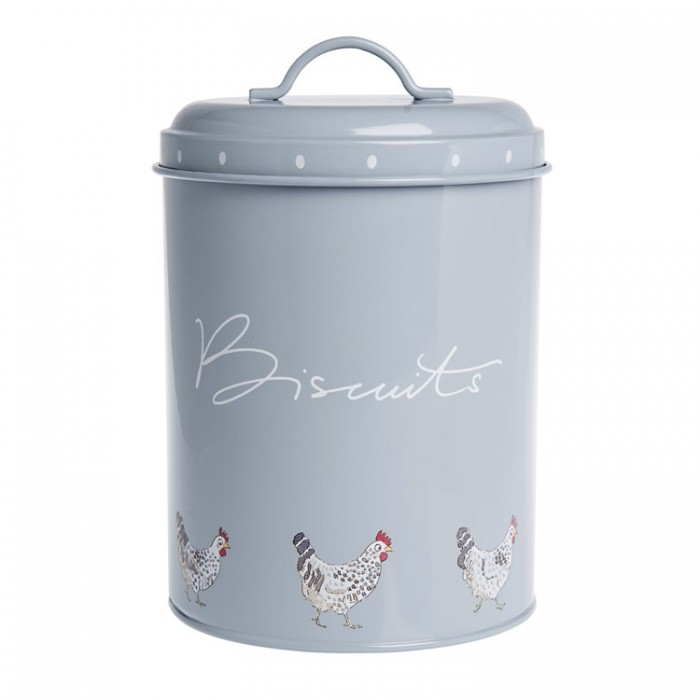 Chickens Metal Biscuit Tin