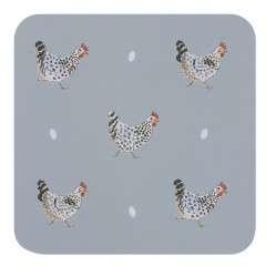 Chickens Coasters (Set of Four)