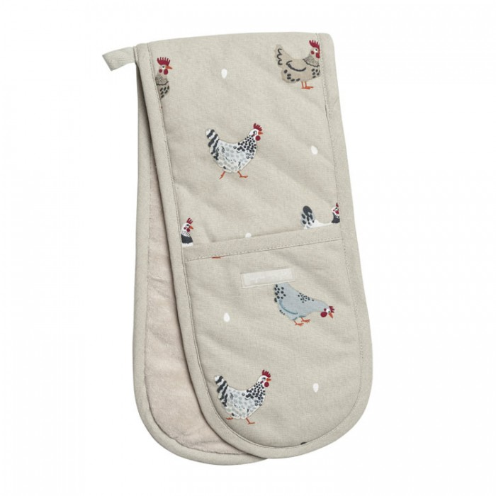 Chickens Lay a Little Egg Hens Double Oven Glove