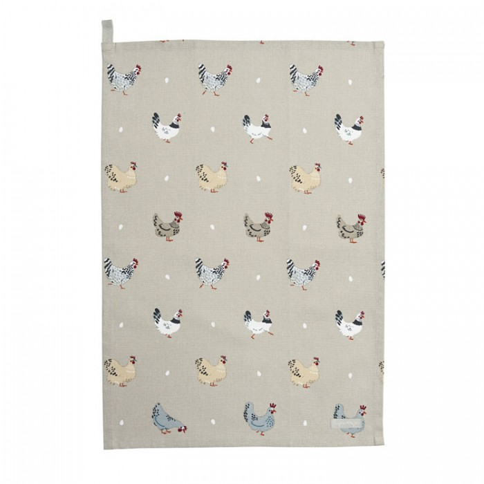 Chickens Lay a Little Egg Hens Tea Towel