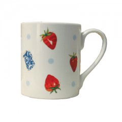 Strawberries & Cream White China Mug