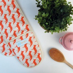 Fox Double Oven Gloves
