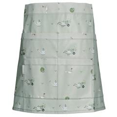 Gardening Apron Wipe-Clean Oilcloth PVC Half-Apron