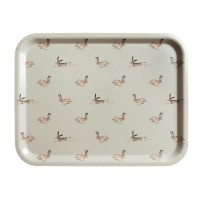 Hare Printed Wooden Tray