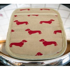 Red Dachshund Rectangular Pot Grab
