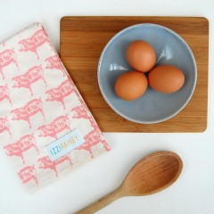 Pink Pig Tea Towel
