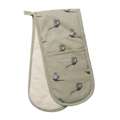 Pheasants Double Oven Gloves