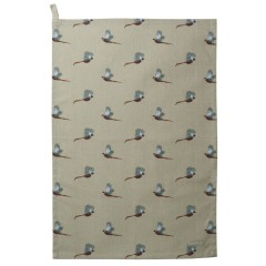 Pheasants Tea Towel