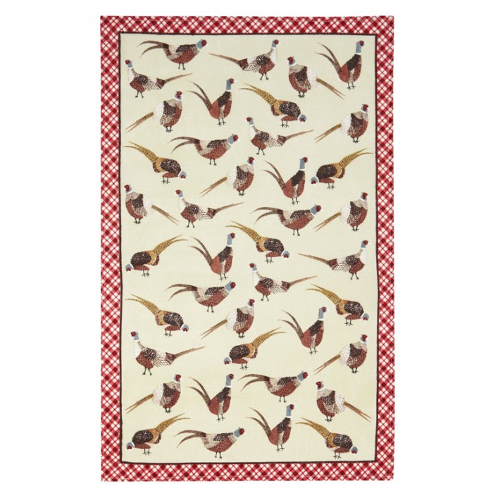 Ulster Weavers Pheasants Linen Tea Towel