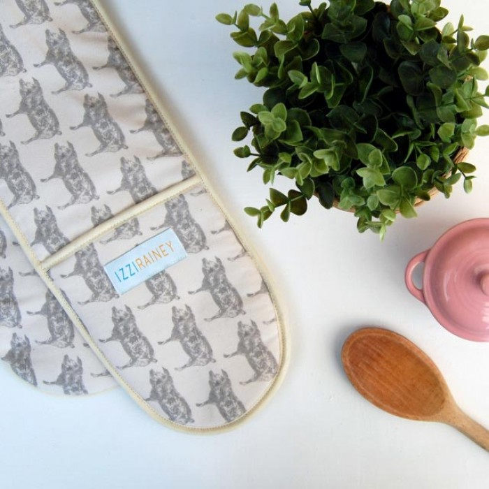 Pig (Grey) Double Oven Gloves
