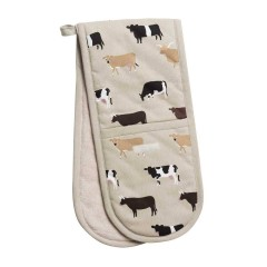 Cows Double Oven Gloves