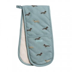 Dachshund Double Oven Gloves