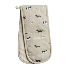 """Woof!"" Dogs Double Oven Glove"