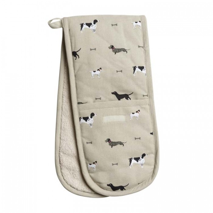 """""""Woof!"""" Dogs Double Oven Glove"""
