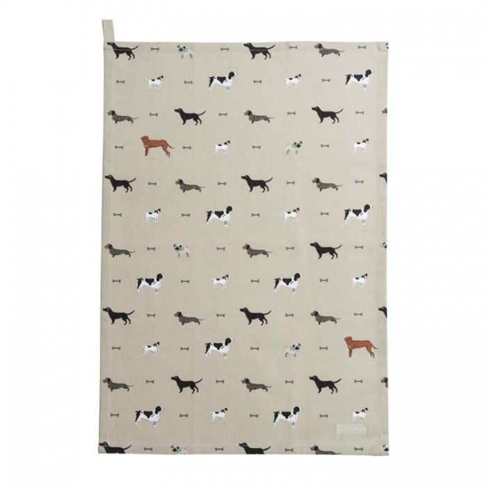 """Woof!"" Dogs Tea Towel"