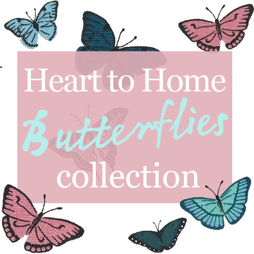 Butterflies - a new collection of kitchen and dining room linens designed by Sophie Allport