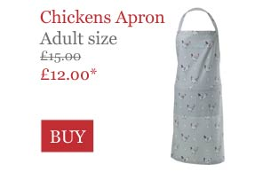 Sophie Allport Chickens Apron Adult Size