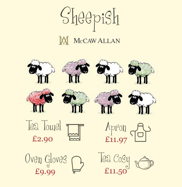 Heart to Home presents the Sheepish collection from McCaw Allan