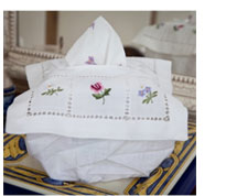 Hand Embroidered Tissue Box Covers